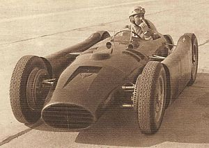 Alberto Ascari - Ascari in the Lancia D50 in 1954
