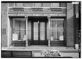 DETAIL OF FRONT ENTRANCE - W. J. Hughes Business House, 3202 Ocoee Street, Cleveland, Bradley County, TN HABS TENN,6-CLEVE,1-3.tif