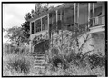 DETAIL OF MAIN ENTRANCE STAIRWAY ON NORTH FRONT - Slob Great House, Centerline Road vicinity, Slob, St. Croix, VI HABS VI,1-KING,1-2.tif
