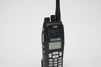 Digital mobile radio - A portable radio compatible with the DMR Tier III digital radio standard.