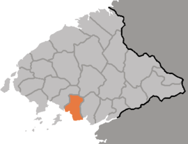 Location of Kwaksan County