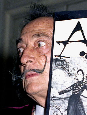English: close up of Salvador Dali at the Hote...
