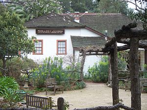 San Luis Obispo, California - The Dallidet Adobe, built in 1856, is one of SLO's oldest standing buildings
