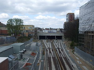 Dalston Junction railway station - Track layout from south