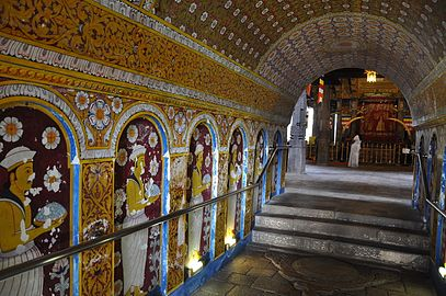 Damaged murals from bombing - The Temple of the Sacred Tooth Relic (Kandy) (5479223488).jpg