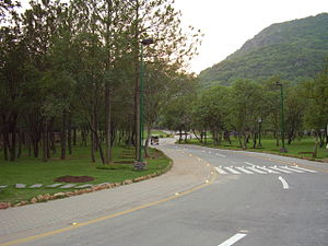 Margalla Hills - Daman-e-Koh lookout park in the Margalla Hills, Islamabad