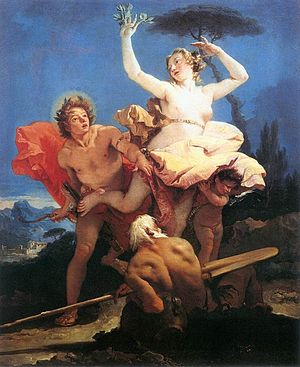 Dafne (Opitz-Schütz) - Daphne Chased by Apollo, by Giovanni Battista Tiepolo, 1744