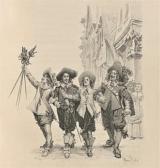 "The Three Musketeers - ""D'Artagnan, Athos, Aramis, and Porthos"" Image by Maquet"