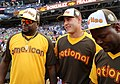 David Ortiz chats with Anthony Rizzo and Fernando Rodney during the T-Mobile -HRDerby. (28291311960).jpg