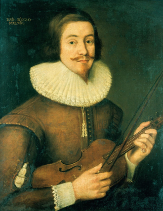 David Rizzio - Seventeenth-century portrait, traditionally said to be of David Rizzio, private secretary of Mary, Queen of Scots. Contemporary accounts describe him as ugly, short and hunch-backed. Royal Collection, Holyroodhouse.