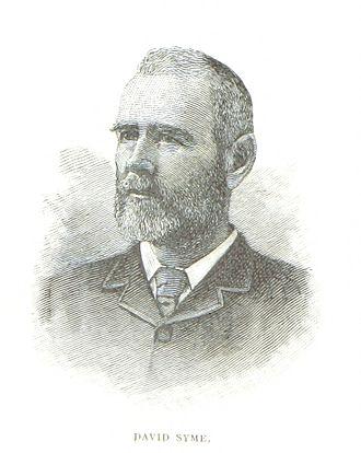 David Syme - An 1888 illustration of Syme