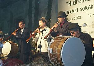 Circular breathing - A group of davul and zurna players. The zurna is played using circular breathing.