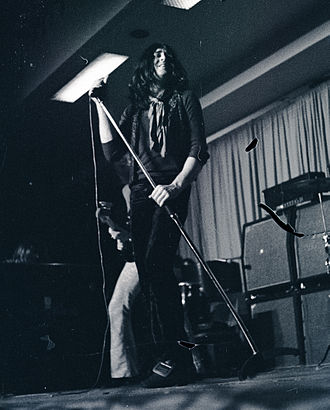 Ian Gillan - Gillan onstage with Deep Purple, alongside bandmates Roger Glover and Jon Lord, Hannover, 1970