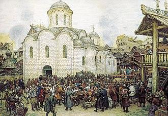Tokhtamysh - Image: Defence of the city