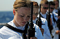 Defense.gov News Photo 110613-N-TB177-371 - Sailors bow their heads for prayer during a burial at sea rehearsal aboard the guided-missile destroyer USS Truxtun DDG 103 in the Atlantic Ocean.jpg