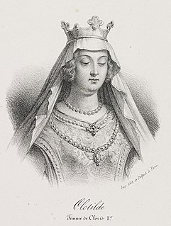 saint and second wife of the Frankish king Clovis I