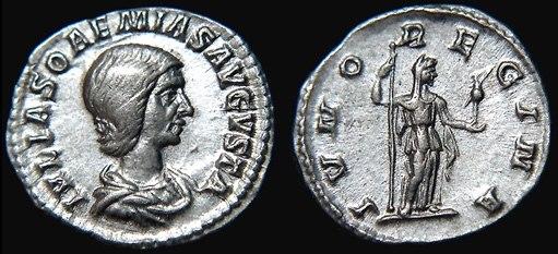 Denarius-Julia Soaemias-RIC 0237