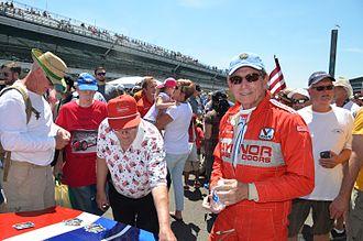 Dennis Firestone - Dennis Firestone at the 2016 Brickyard SVRA Pro-Am race at the Indianapolis Motor Speedway.