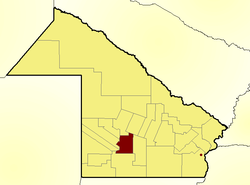 Location of O'Higgins Department in Chaco Province