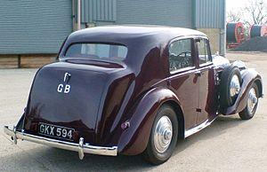 Bentley Mark V - Image: Derby MK V rear