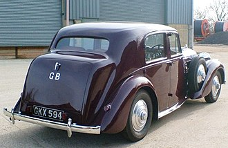 Bentley Mark V - Image: Derby MK V rear