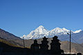 Dhaulagiri with shrines seen from Muktinath.jpg