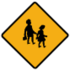 Diamond road sign children crossing.png