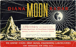Project Diana - QSL card for reception reports