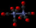 Dikobolttioktakarbonyyli-D3d-silloittamaton-mallista C60-xtal-2009-3D-balls.png