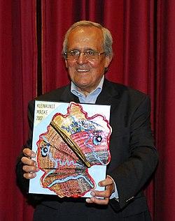 Dieter Hildebrandt, Garchinger Kleinkunstmaske 2007.JPG