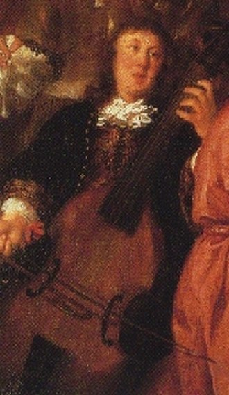 Chorale prelude - The only known painting of Buxtehude (detail, Johannes Voorhout, 1674)