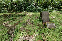 Digit's and Dian Fossey's graves.jpg