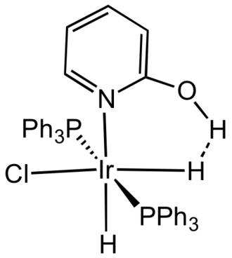 Dihydrogen bond - Dihydrogen bonding exists between the hydroxypyridine and a hydride ligand in this iridium complex.