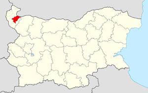 Dimovo Municipality - Image: Dimovo Municipality Within Bulgaria