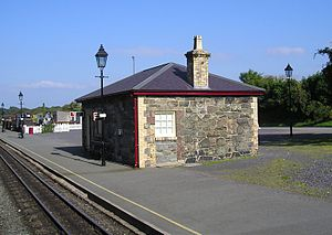 Dinas railway station - Original NWNGR station building of 1877