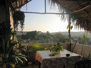 Casa particular - Part of the roof terrace of a casa particular in Santiago de Cuba