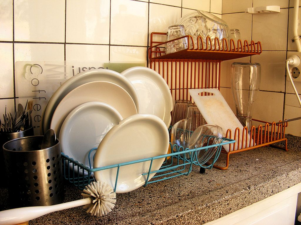 Dishes in a dutch kitchen