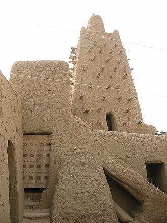 Musa I of Mali - The Djinguereber Mosque, commissioned by Mansa Musa in 1327