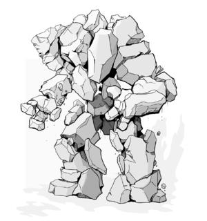 Elemental (Dungeons & Dragons) - Image: Dn D Stone Elemental
