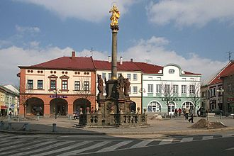 Dobruška - Marian column at the town square