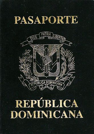 Dominican Republic passport - The front cover of a contemporary Dominican Republic passport.