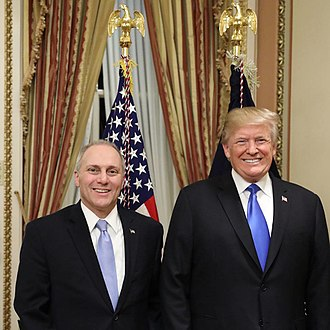 Steve Scalise - Scalise with President Donald Trump in 2018
