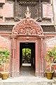 Door and Wooden Tympanum at Entrance of Kumari House- Basantapur, Kathmandu Nepal-0117.jpg