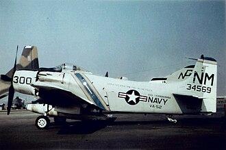 VA-52 (U.S. Navy) - A VA-52 A-1H Skyraider in 1966.