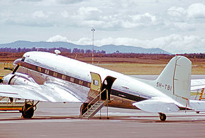 Williamson diamond mine - Williamson Diamond Mines Douglas C-47B Dakota in 1973 used for personnel transport within East Africa
