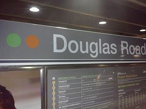 Douglas Road station - Image: Douglas Road station