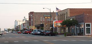 Larned, Kansas City and County seat in Kansas, United States