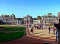 Dresden, Zwinger -- Links französischer Pavillon, Mitte Wallpavillon, Rechts Sepergallerie (7636963066).jpg