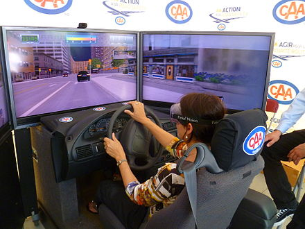 Drunk driving simulation being demonstrated by the CAA-Québec