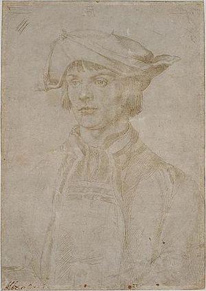Lucas van Leyden - A portrait of Lucas van Leyden by Albrecht Dürer, June 1521